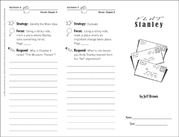 Flat Stanley (Level N): Reading Response Trifold - Printable Worksheet