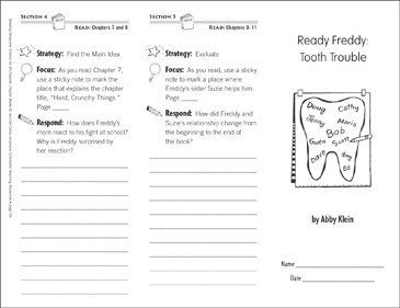 Ready Freddy: Tooth Trouble (Level N): Reading Response Trifold - Printable Worksheet