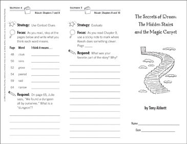 The Secrets of Droon: The Hidden Stairs and the Magic Carpet (Level N): 3:03:37 PM - Printable Worksheet