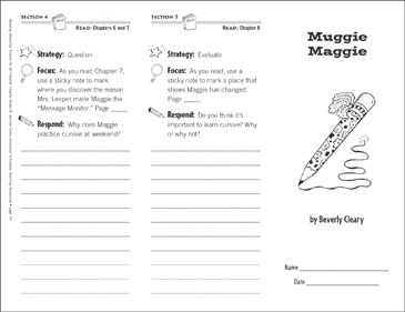Muggie Maggie (Level O): Reading Response Trifold - Printable Worksheet