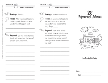 26 Fairmount Avenue (Level P): Reading Response Trifold - Printable Worksheet