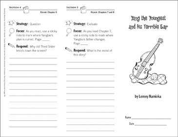 Yang the Youngest and His Terrible Ear (Level P): Reading Response Trifold - Printable Worksheet
