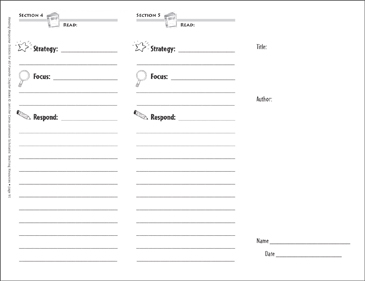 Make-Your-Own Trifold Template: Reading Response Trifold - Printable Worksheet