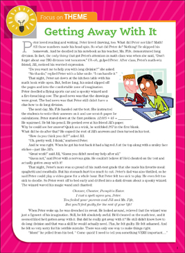 Getting Away With It: Literary Element, Theme - Printable Worksheet