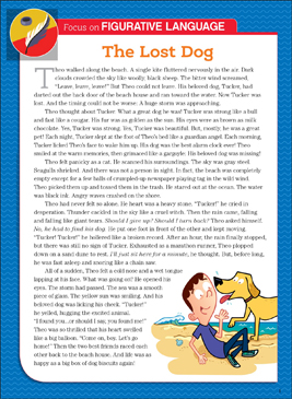 The Lost Dog: Literary Element, Figurative Language - Printable Worksheet