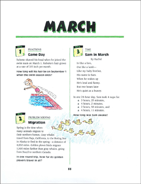 March Math Story Problems - Printable Worksheet