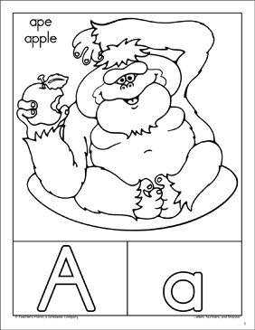 The Letter Aa: Alphabet Packet - Printable Worksheet