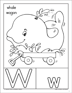 The Letter Ww: Alphabet Packet - Printable Worksheet