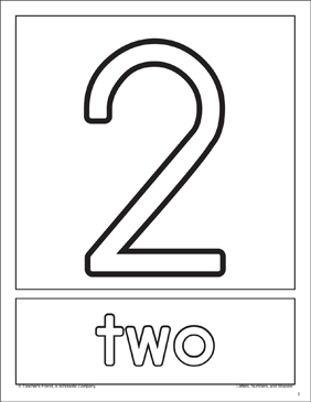 The Number Two: Number Recognition Cards - Printable Worksheet