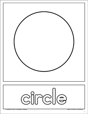 Circle: Shape and Word Practice Page - Printable Worksheet