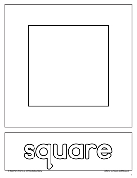 Square: Shape and Word Practice Page - Printable Worksheet