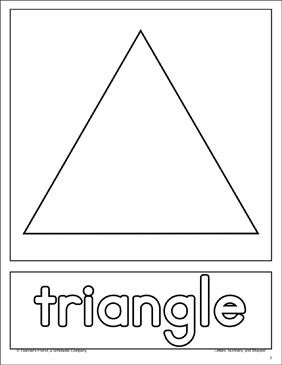 Triangle: Shape and Word Practice Page - Printable Worksheet