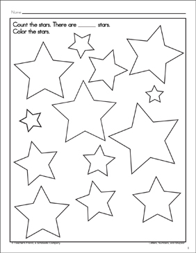 Count the Stars: Math Practice | Printable Skills Sheets