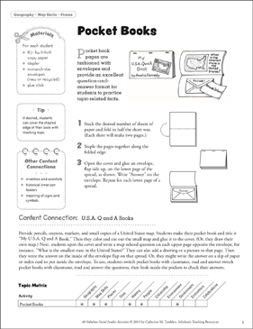 Pocket Books: Social Studies Activity - Printable Worksheet