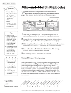 Mix-and-Match Flipbooks: Social Studies Activity - Printable Worksheet
