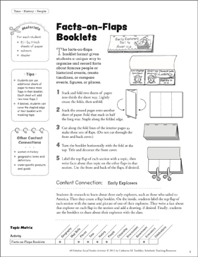 Facts-on-Flaps Booklets: Social Studies Activity - Printable Worksheet