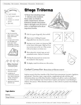 Stage Triforms and Quadruple Triforms: Social Studies Activity - Printable Worksheet