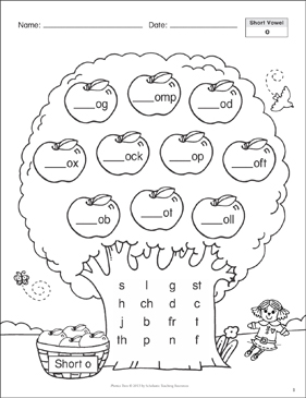Short Vowel (o): Phonics Tree - Printable Worksheet