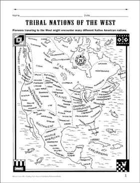 Tribes of the West - Printable Worksheet