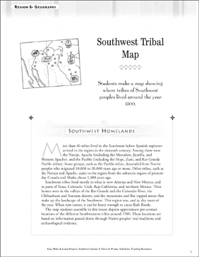 picture about Indians Schedule Printable named Southwest Indian Tribal Map: Places Geography Printable