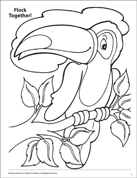 Flock Together Amazing Animals Coloring Page - Printable Worksheet