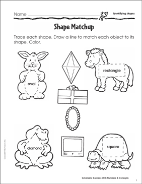 Shape Matchup (Identifying Shapes) - Printable Worksheet