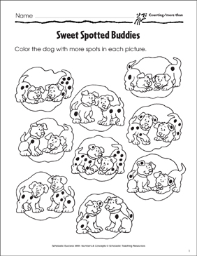 Sweet Spotted Buddies (Counting More Than) - Printable Worksheet