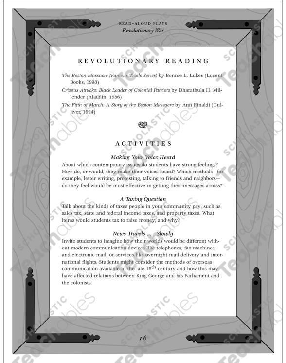 The Boston Massacre A Revolutionary War Readaloud Play Printable. See Inside. Worksheet. Revolutionary War Worksheets At Clickcart.co