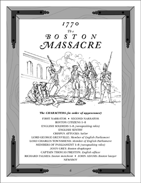 The Boston Massacre: A Revolutionary War Read-Aloud Play - Printable Worksheet