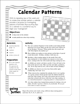 Math Patterns: Calendar Math Patterns | Printable Lesson