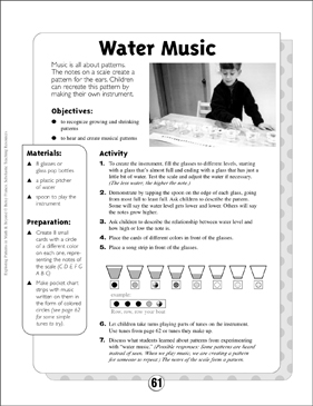 Movement and Sound Patterns: Water Music - Printable Worksheet