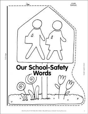 Stay-Safe School Zone Sign: Safety Word Wall - Printable Worksheet