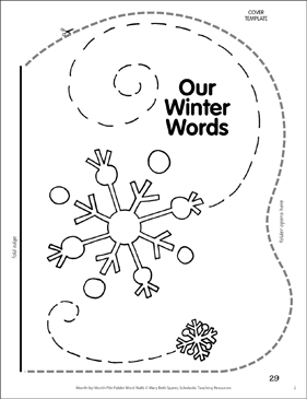 Sparkle Snowflake: Winter Word Wall - Printable Worksheet