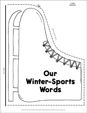 Ice Skates: Winter Sports Word Wall - Printable Worksheet