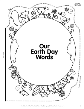 Mother Earth: April Word Wall - Printable Worksheet