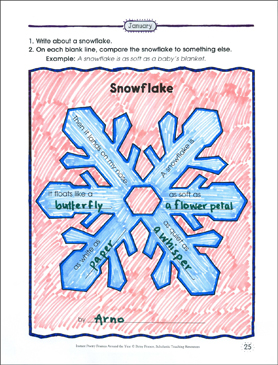 Snowflake: Poetry Frame - Printable Worksheet