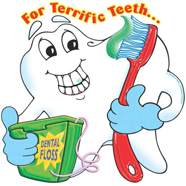 For Terrific Teeth...Brush and Floss! - Image Clip Art