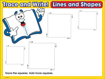 Great Books (squares): Trace and Write Practice Page - Printable Worksheet