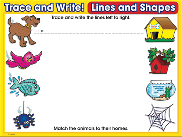 No Place Like Home (left-to-right lines): Trace and Write Practice Page - Printable Worksheet