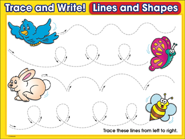 On the Go! (curvy lines): Trace and Write Practice Page - Printable Worksheet