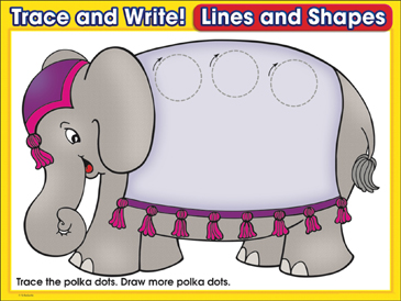 Pretty Polka-Dots (circles): Trace and Write Practice Page - Printable Worksheet