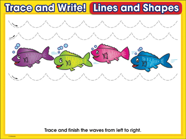 Ride the Waves! (wavy lines): Trace and Write Practice Page - Printable Worksheet
