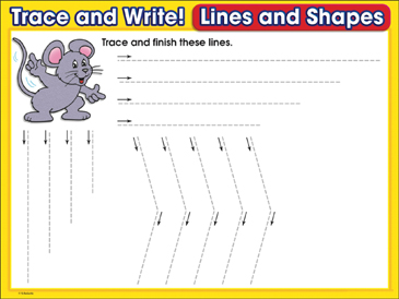 Lots of Lines (mixed lines): Trace and Write Practice Page - Printable Worksheet