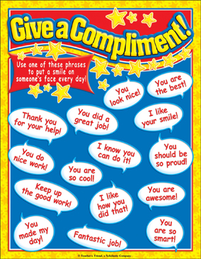 Give a Compliment! Color Chart - Printable Worksheet