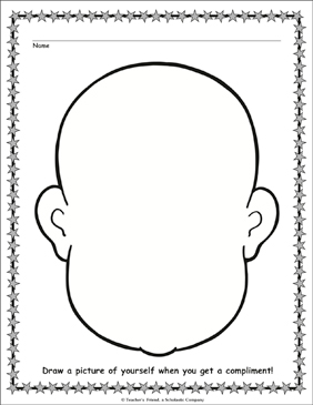 Portrait Template Coloring Page - Printable Worksheet