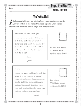 You've Got Mail (Capital Letters) - Printable Worksheet
