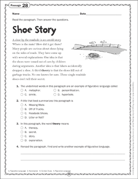Shoe Story: Close Reading Passage - Printable Worksheet