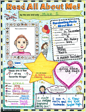 photo about All About Me Poster Printable referred to as Examine All Pertaining to Me: Fill-within Poster (K-2) Printable Impression