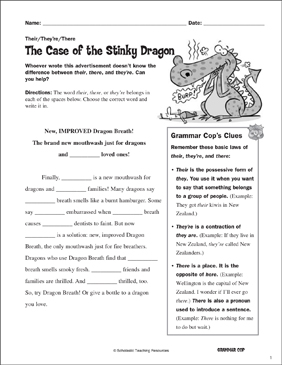 The Case of the Stinky Dragon: Their/They're/There ...