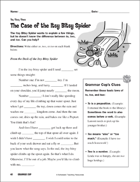 graphic relating to Itsy Bitsy Spider Printable called The Situation of the Itsy Bitsy Spider (In the direction of/Way too/2) Printable